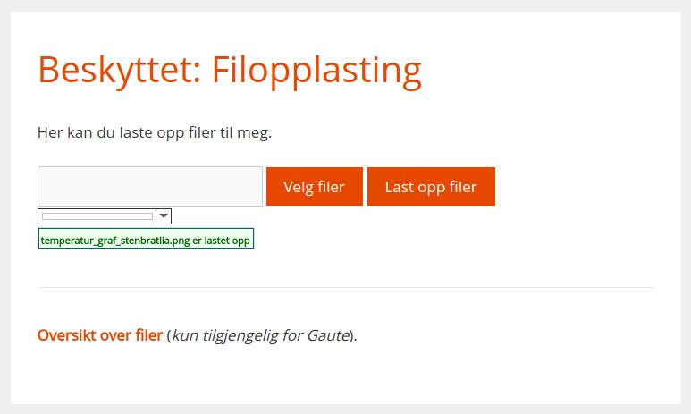 Opplasting av filer