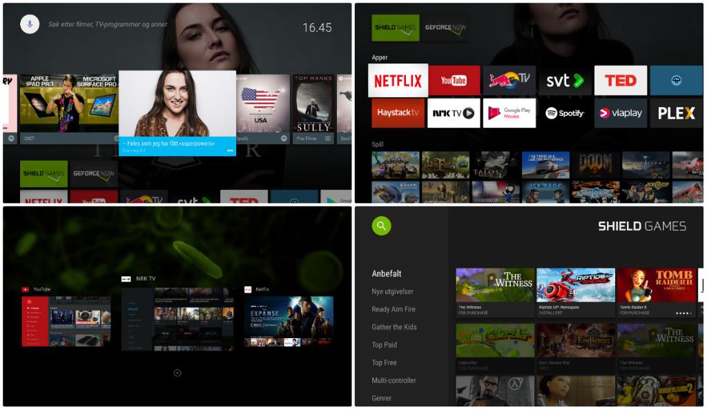 Nvidia Shield skjermbilder