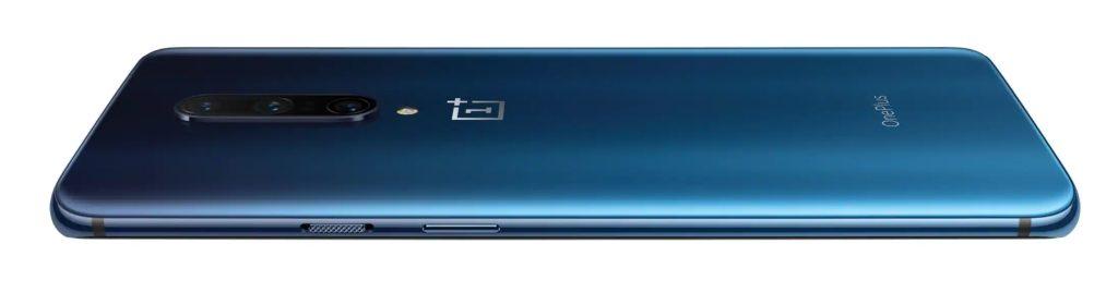 OnePlus 7 Pro Nebula Blue sett bakfra.
