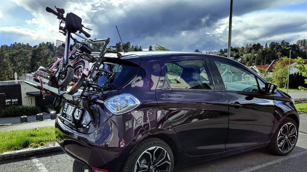 Paulchen sykkelstativ for Renault Zoe