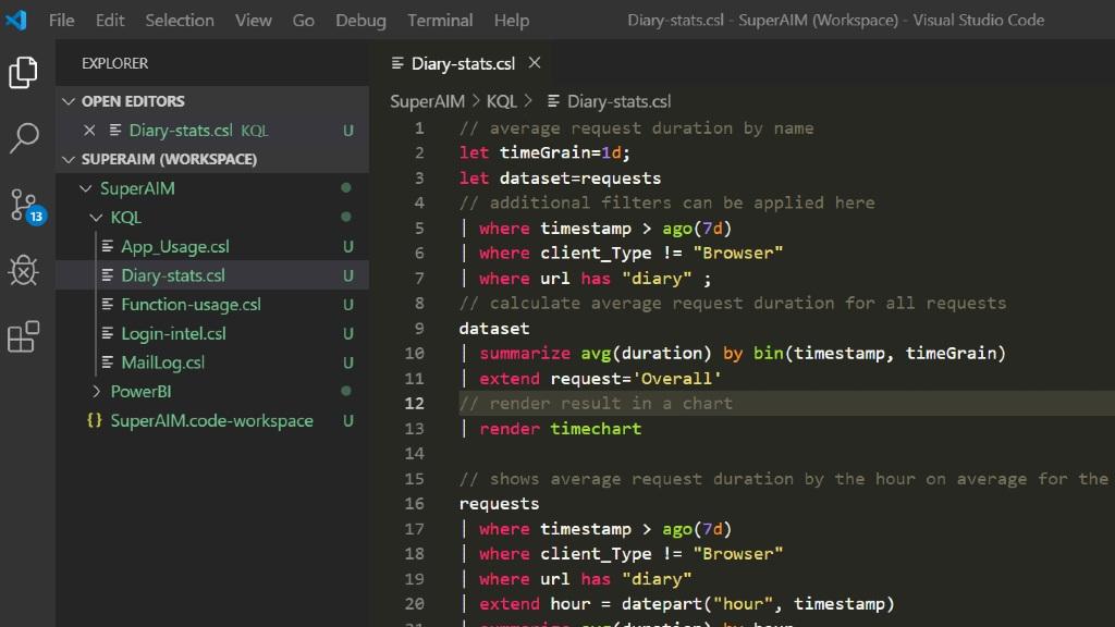 Skjermbilde av Visual Studio Code