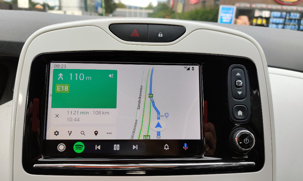 Google Maps på Android Auto