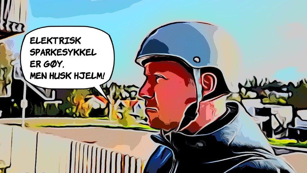 Klikk for å lese min bloggpost om å bruke hjelm når du kjører elsparkesykkel.