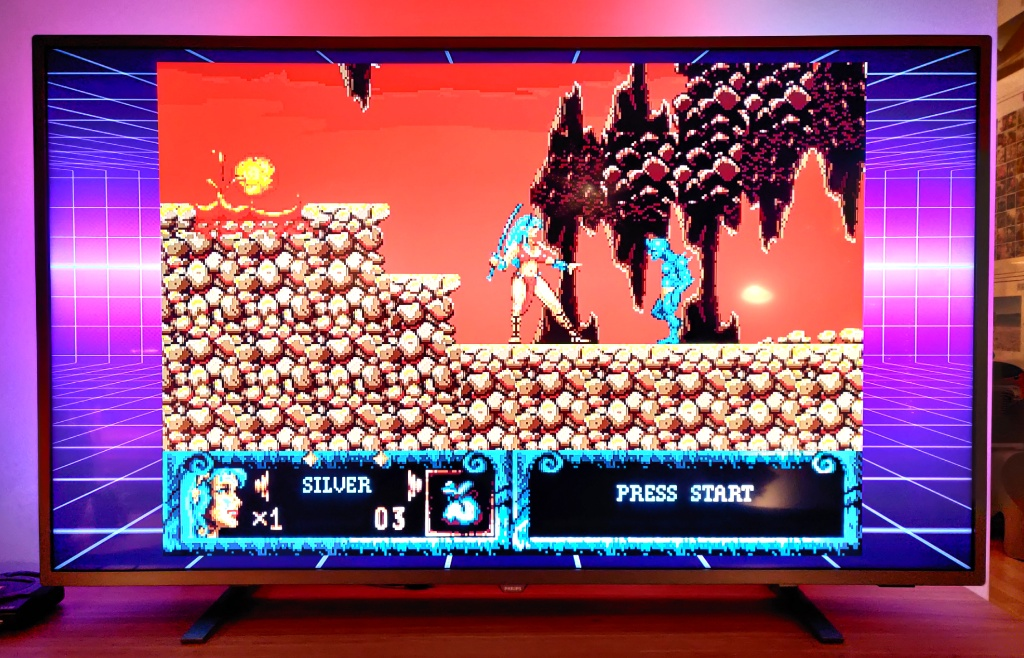 Spill i originalt format med ramme rundt.