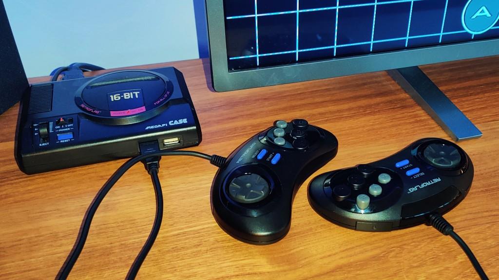 Retroflag Mega Pi og kontrollere.