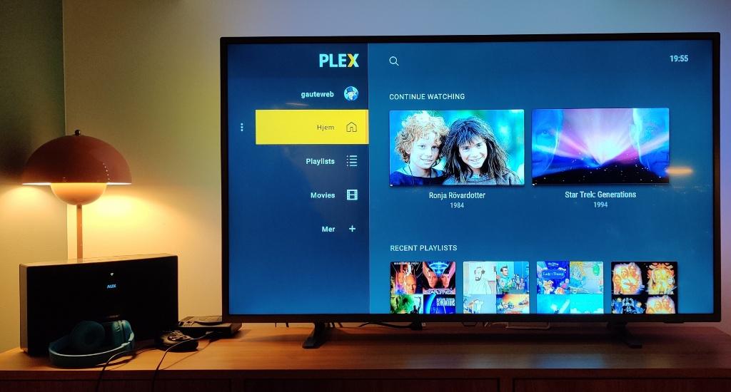 Nvidia Shield TV (2019) med Plex