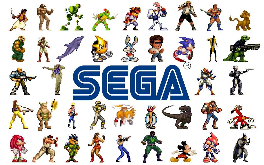 Spillkarakterer fra SEGA universet.
