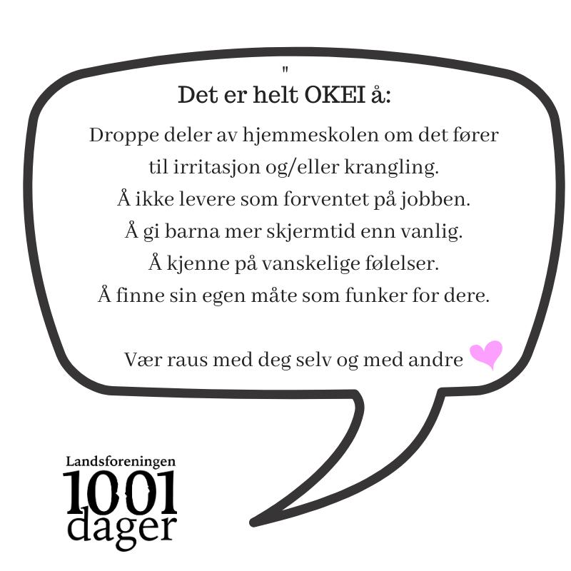 Plakat fra Landsforeningen 1001 dager.
