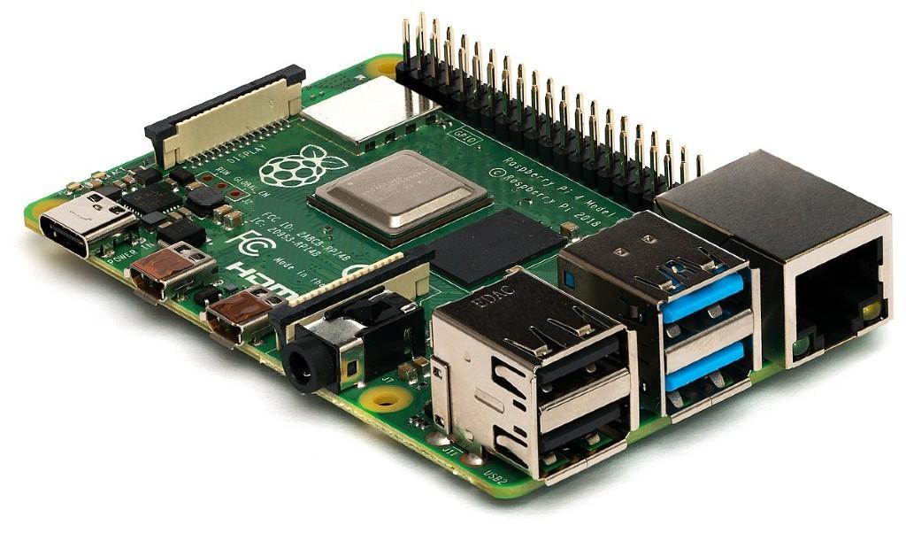 Raspberry Pi 4 med 4GB RAM.