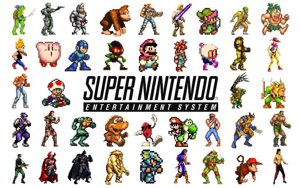 Super Nintendo spillkarakterer.