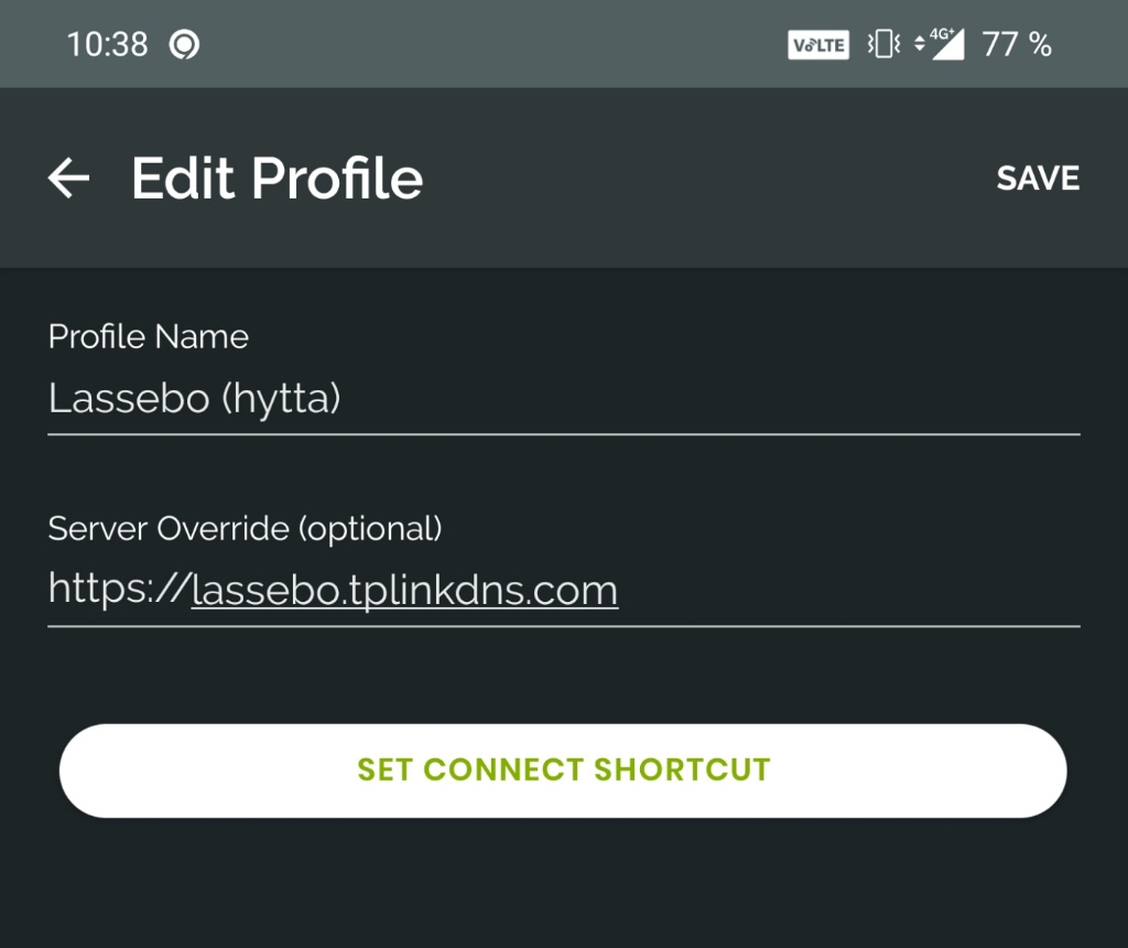 OpenVPN Android Edit Profile