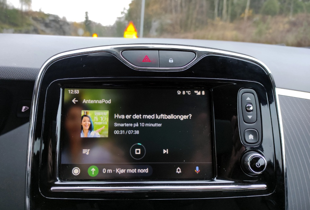 AntennaPod og Android Auto