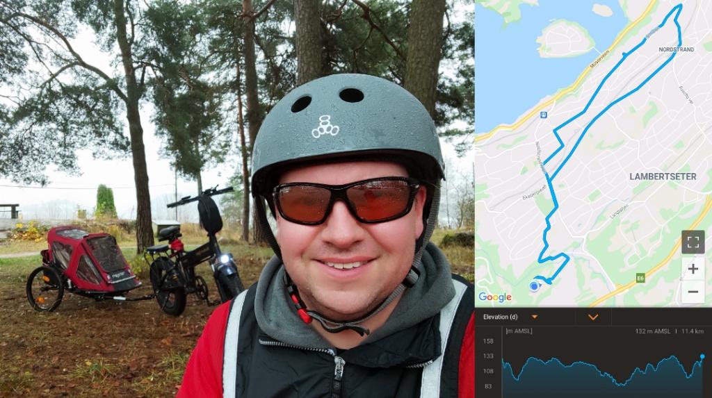 Gaute på tur med Bike Tracker