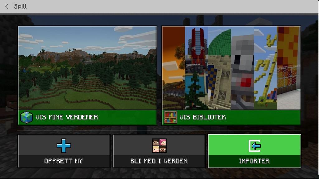 Minecraft Education Edition - Importer verden