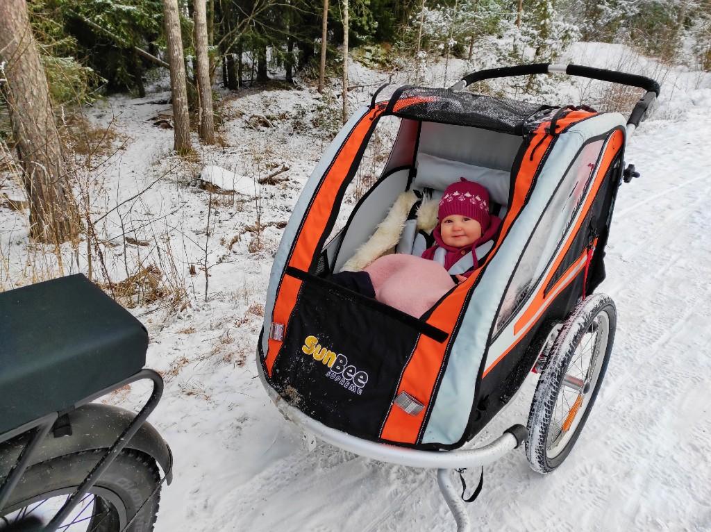 Vintersykling med ny vogn