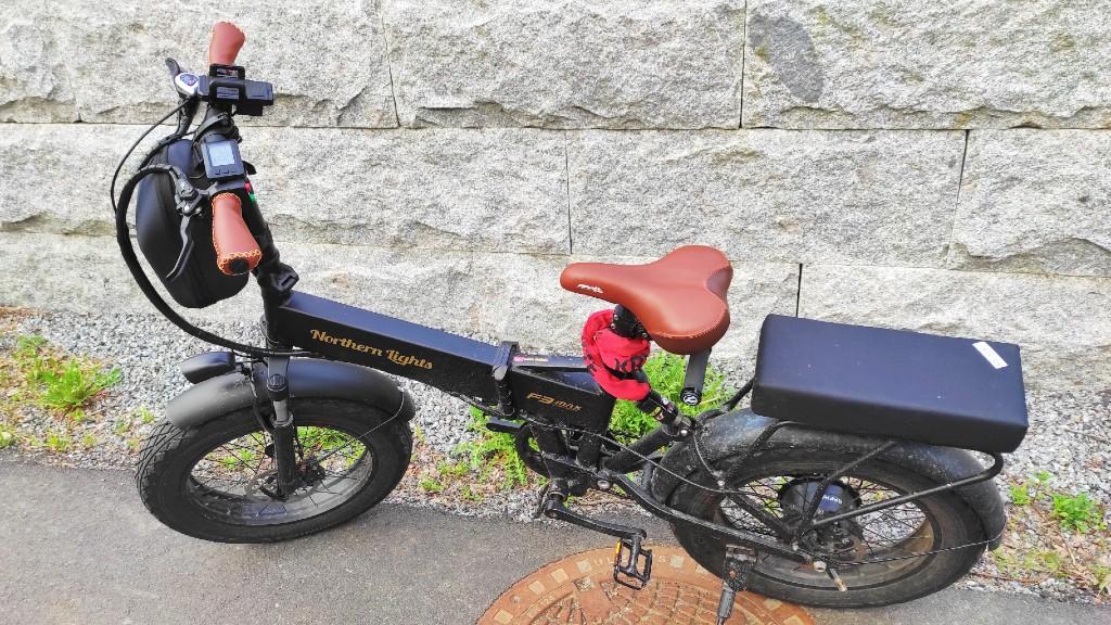 Northern Lights F3 Max med nye holker, sadel og pedaler.