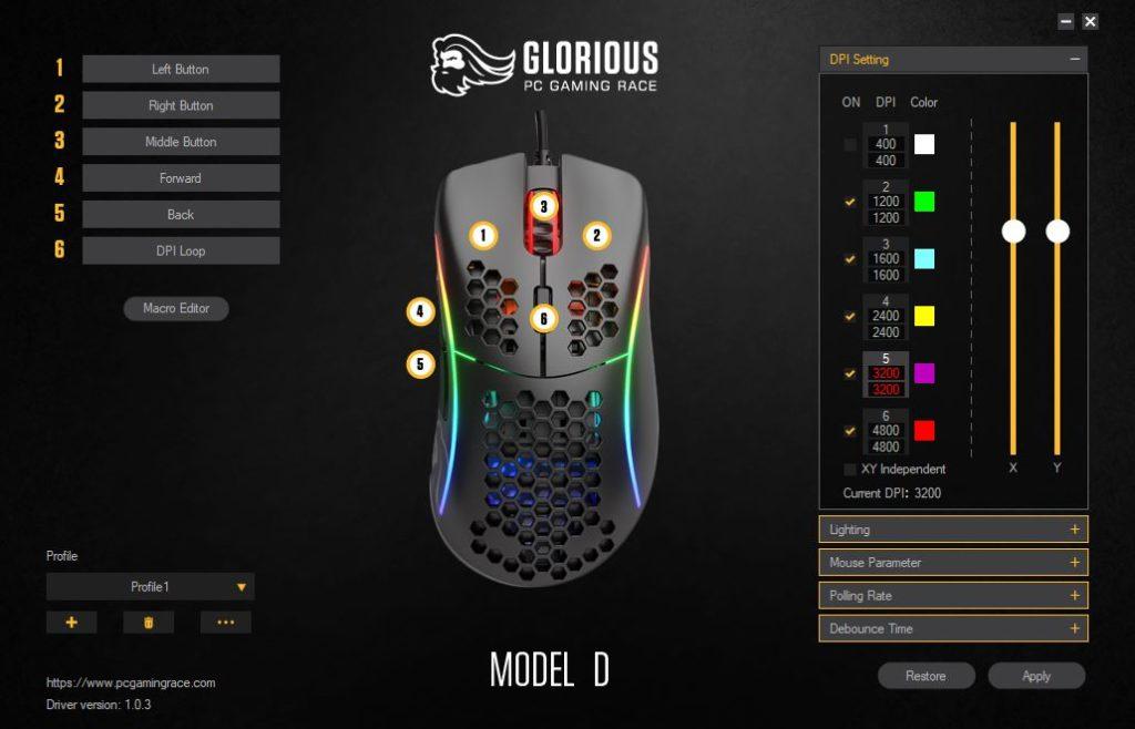 Glorious Model D App