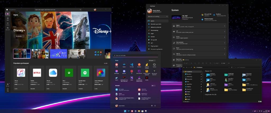 Windows 11 skrivebord